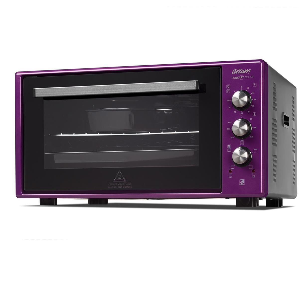 Arzum AR2034 Cookart Color 50Lt Çift Camlı Fırın - Mürdüm