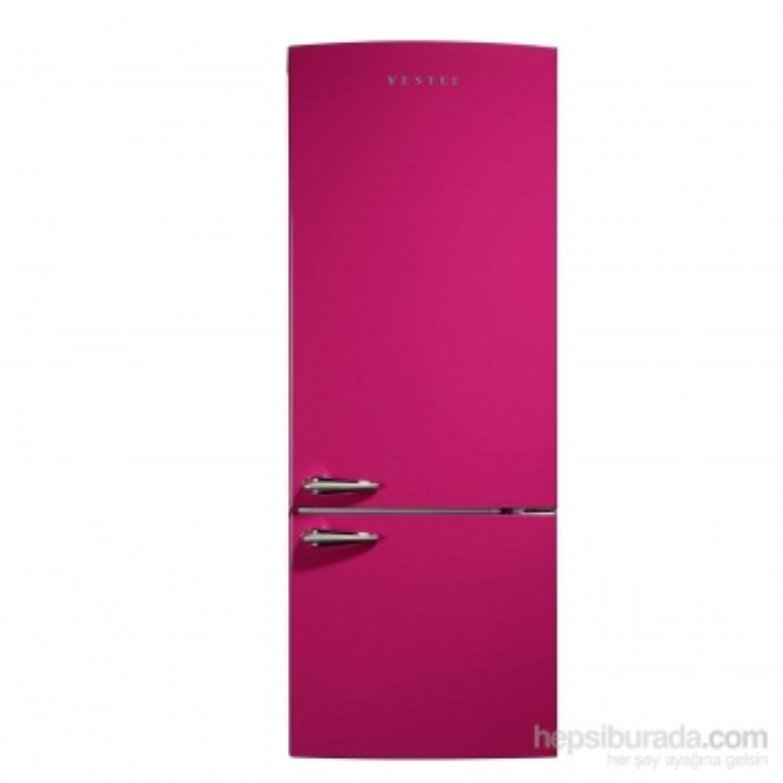 VESTEL RETRO NFK510 PEMBE No-Frost Buzdolabı