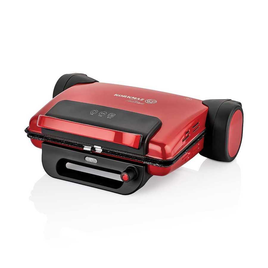 Korkmaz Tostema Kırmızı Midi Tost Makinesi A810-04