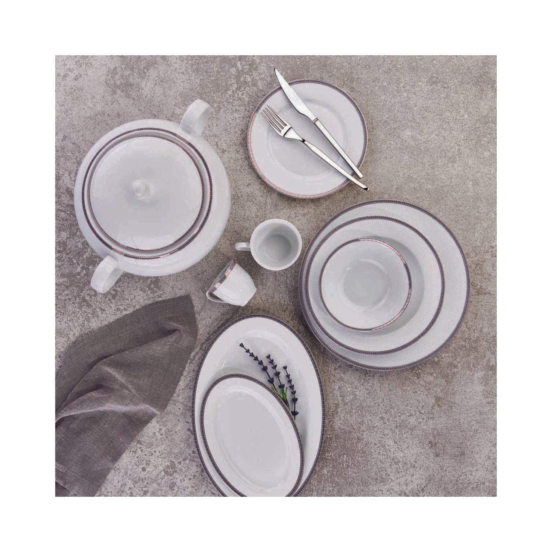 Korkmaz Bianca Collection 86 Parça Yuvarlak Yemek Takımı A8044