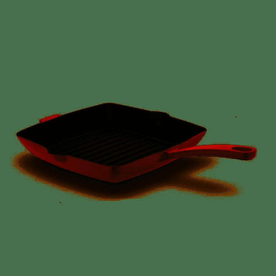 Korkmaz A2848-1 Casta Kırmızı Kare 30 cm Grill Döküm Tava