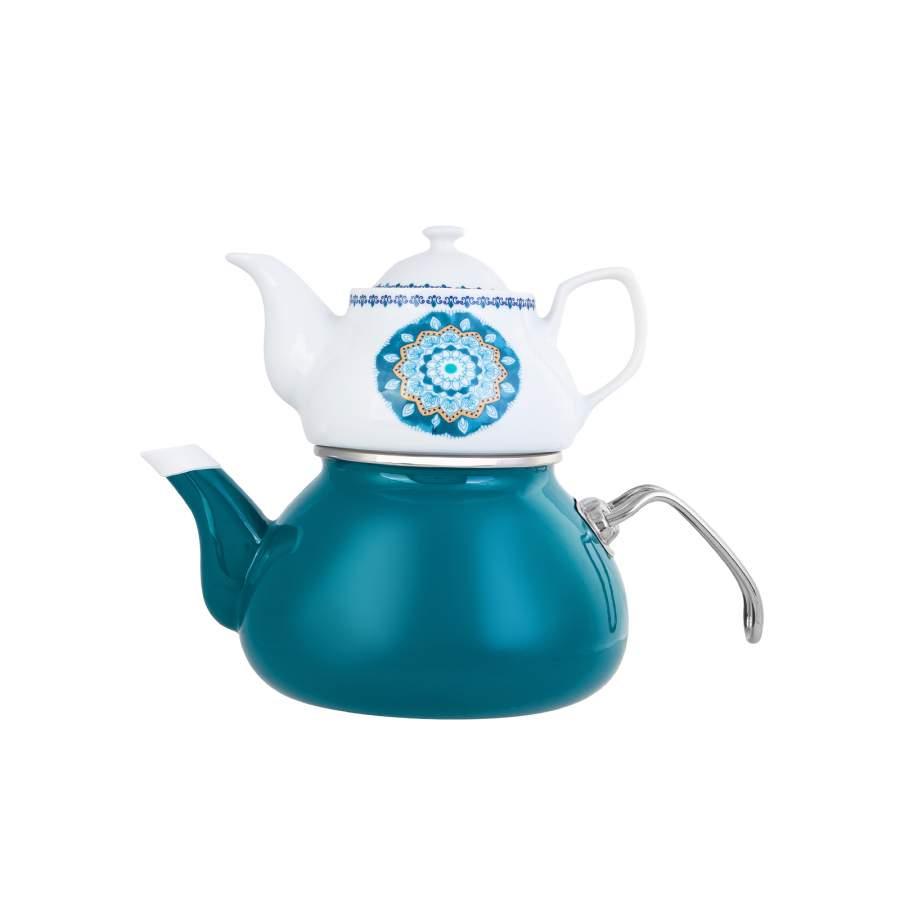 Karaca Deep Sea Porselen Demlikli Çaydanlık